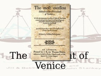 Activities for The Merchant of Venice - whole play
