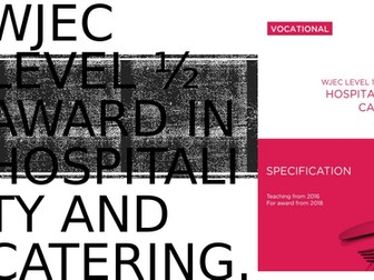 WJEC Hospitality & Catering Lv1/2, Unit 1 LO1