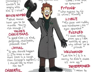 A CHRISTMAS CAROL Quotes GCSE REVISION Poster SCROOGE'S NEPHEW, FRED