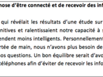 La cyber-societe- Possible Questions and Model Answers- A Level French