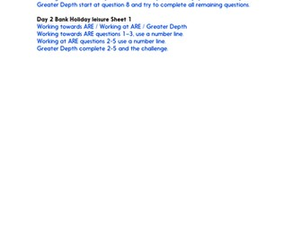 Strategies in mental and written calculation - Practice Worksheets & Answers- Year 6