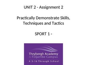 BTEC SPORT UNIT 2 Assignment 2 Template (Practical Sport)