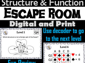 Parts of a Flower Activity: Escape Room - Science