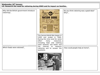 World War II Research on Rationing