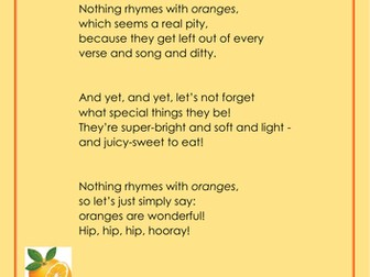 Oranges Rhyme - Healthy Eating Support