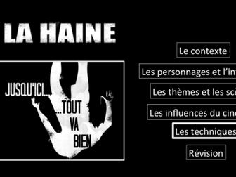 La Haine- Movie Study/ Etude du film- Les Techniques- A Level French