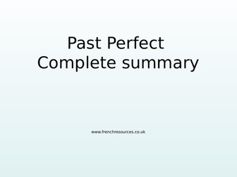 GCSE French Perfect Tense Complete Summary