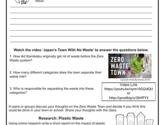 Sustainability Worksheet with 4 Activities