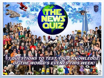 The News Quiz 25th February - 4th March 2019 Form Tutor Time Current Affairs Topical Settler Starter