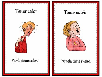 Tener Expressions Mini Posters/Task Cards: 12 Common Expressions! (Version 1)
