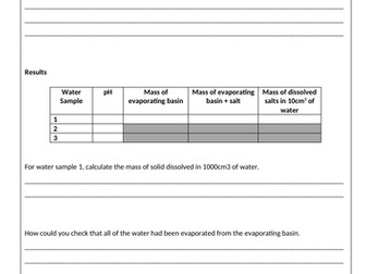 Water Purification Required Practical AQA GCSE Science