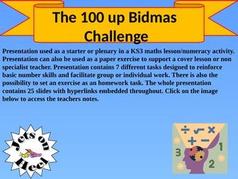 The 100 BIDMAS Challenge