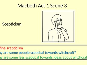Macbeth Act 1 Scene 3: How do Macbeth and Banquo react differently to the witches?