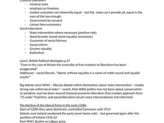 Liberal Democrat Party Notes