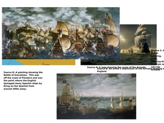 AQA 8145 and suitable for KS3  - Events of the Spanish Armada (L3 historic environment)