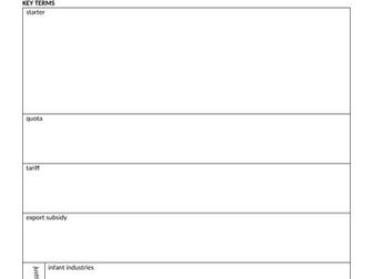 2-Q Trade and Trade Barriers AQA A-level Economics (new spec) MACRO