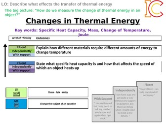 Energy 05 - Changes of Thermal Energy (Specific Heat Capacity) AQA New Physics 9-1