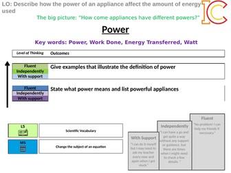 Energy 10 - Power AQA New Physics 9-1