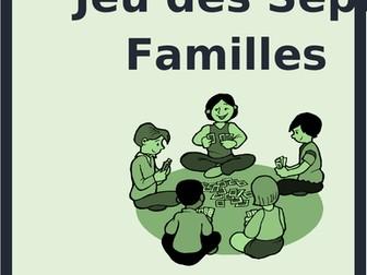 Nourriture (Food in French) Jeu des sept familles