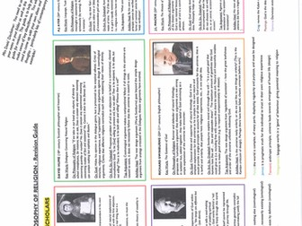 IB Philosophy - PHILOSOPHY OF RELIGION Revision Guide