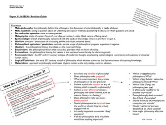 IB Philosophy - UNSEEN ANALYSIS REVISION GUIDE