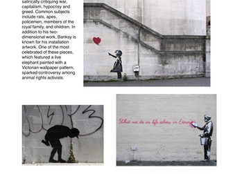 Street Artist Factsheets - Art & Design - Research