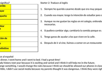 GCSE SPANISH 9-1 Complex phrases / structures pack