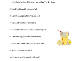 German Word Order with Conjunctions and Modals (2 Worksheets)