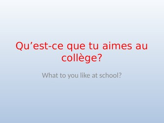 KS3 French School subjects reasons and justifications