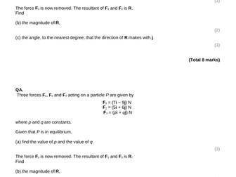 Mechanics Yr 1 Ch.10 Test and Review lesson