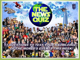 The News Quiz 18th - 25th March 2019 Form Tutor Time Current Affairs Topical Settler Starter