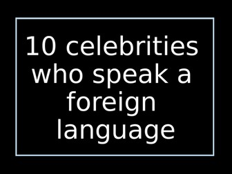 Display: Celebrities who speak languages