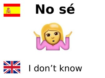 Display Classroom instructions Spanish