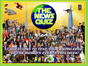 The News Quiz 25th March - 1st April 2019 Form Tutor Time Current Affairs Topical Settler Starter