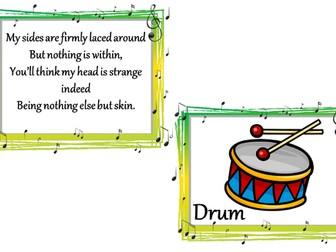 Music rhyming riddles.