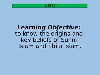 Key Beliefs of Sunni Islam and Shi'a Islam