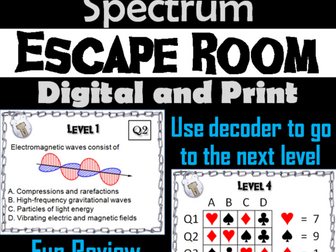 Electromagnetic Spectrum Escape Room