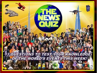 The News Quiz 1st -22nd April 2019 Form Tutor Time Current Affairs Topical Settler Starter