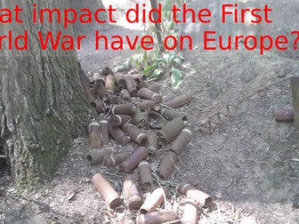 What impact did the First World War have on Europe?