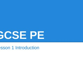 AQA GCSE PE 9-1 Paper 1 lessons, Worksheets and End of unit tests.