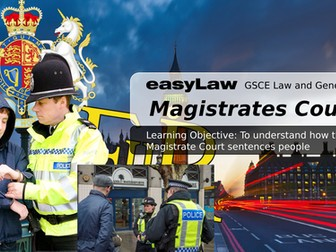 easyLAW: Magistrates Sentencing Powers GSCE LAW  and CITIZENSHIP