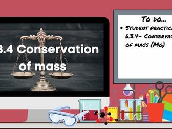 KS3 AQA Activate 6.3.4 Conservation of mass