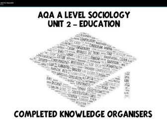 AQA A Level Sociology - Education - Completed  Knowledge Organisers