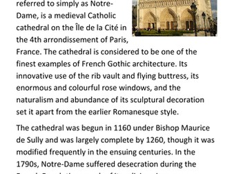 Notre Dame Cathedral Handout