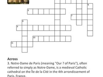 Notre-Dame de Paris Crossword