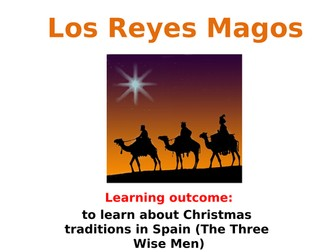 Los Reyes Magos Three Wise Men lesson