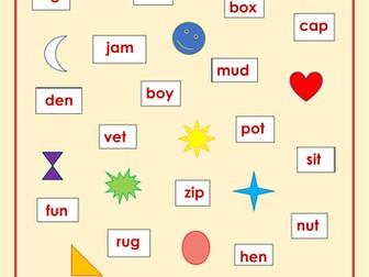 KS1 Spelling/Reading/Phonics Test/Practice - Easiest