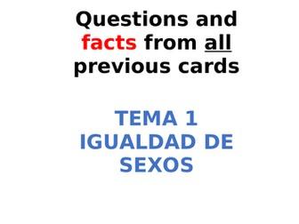 AQA Spanish Facts and Questions Tema 1 - Igualdad de Sexos