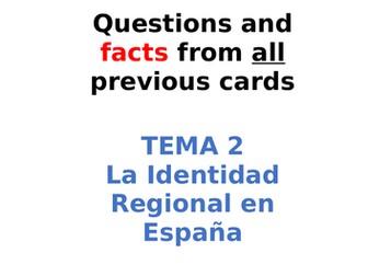 AQA Spanish Facts and Questions Tema 2 - La Identidad Regional en España