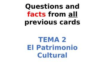 AQA Spanish Facts and Questions Tema 2 - El Patrimonio Cultural